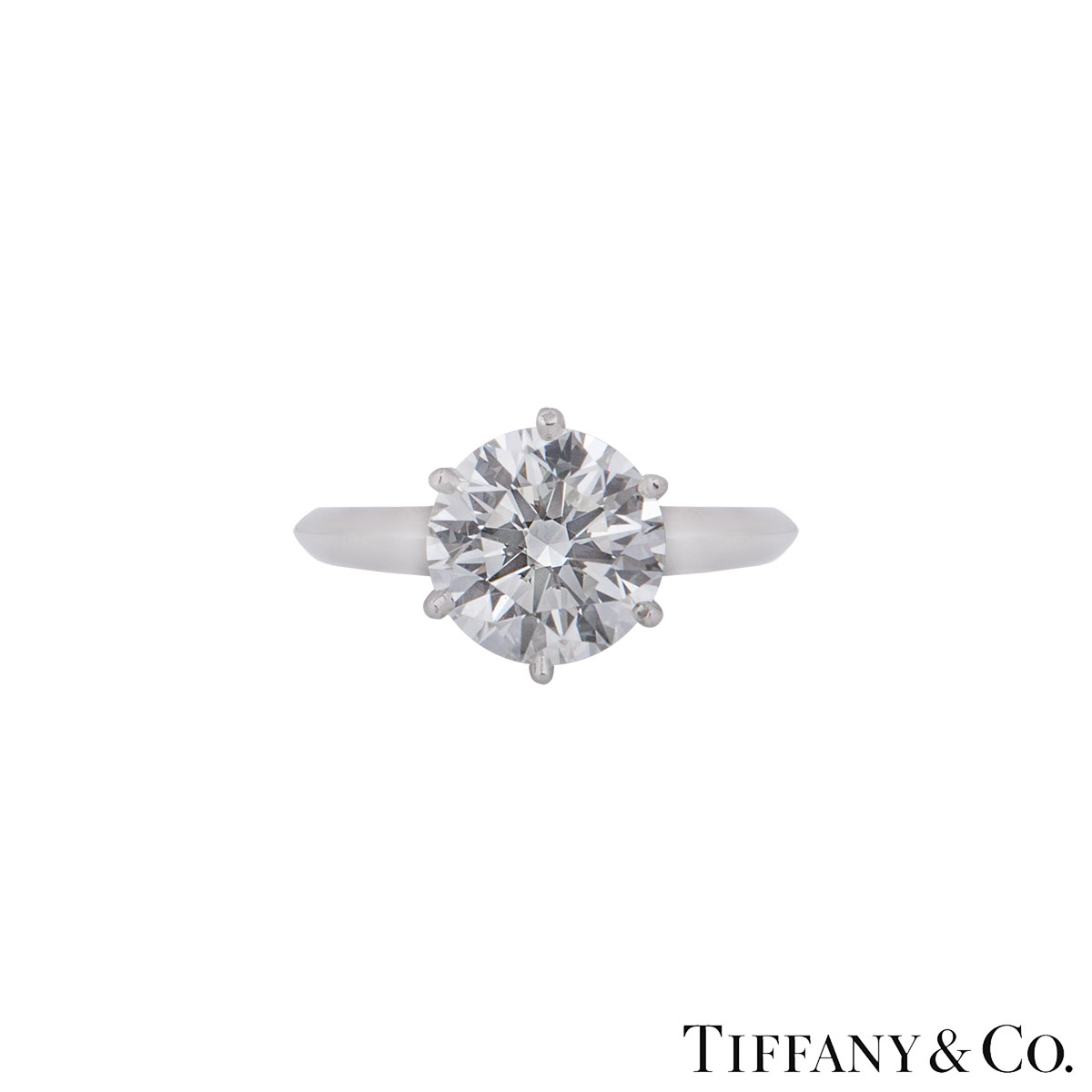 Tiffany & Co. Platinum Diamond Setting Ring 2.17ct H/VS1